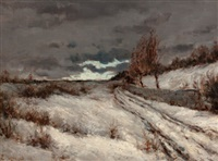 winter landscape by edward grenet