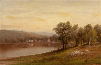 new england summer landscape (susquehanna river) by charles wilson knapp