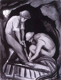 miners by diego rivera