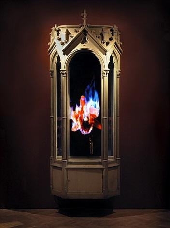auto-immolation by mat collishaw
