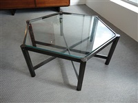 bronze and glass coffee table by jules wabbes