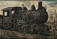 the locomotive by reginald marsh