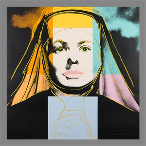 the nun from ingrid bergman by andy warhol
