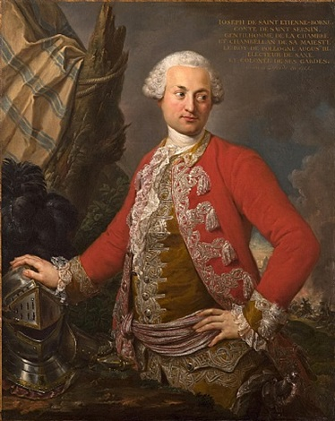 portrait of joseph de saint etienne borne, comte de saint sernin, royal polish and electoral saxon chamberlain, captain of the guard, and adjutant-general of the infantry by stefano torelli