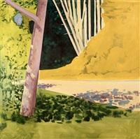 barn door view by lois dodd