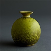 carl-harry stalhane unique solfatara green glazed vase by carl-harry stålhane