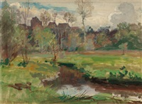 landscape, boigneville, france by walter griffin