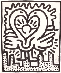 untitled no. 243 (poster for kutztown connection benefit concert) by keith haring