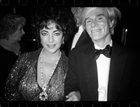 andy with elizabeth taylor by christopher makos
