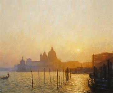 sunset on the san margela basin by nicholas verrall