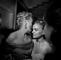 oscar party, meryl streep and natalie portman, los angeles, february, 2009 by larry fink