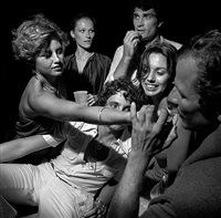 peter beard and friends, august, 1976 by larry fink