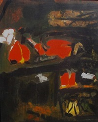 abstract 1972 by sayed haider raza