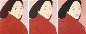 brisk day i , ii and iii by alex katz