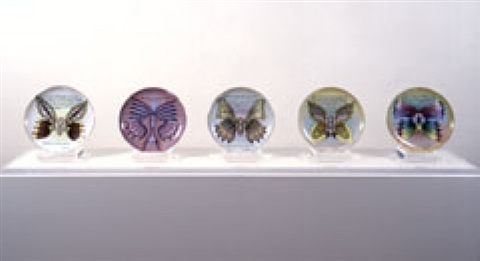 butterfly test plates (set of 5) by judy chicago