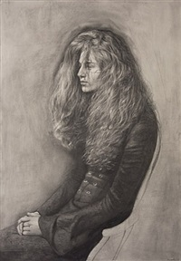 julie seated with hands clasped by steven assael