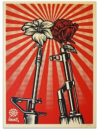 ak47 vs. m16 by shepard fairey