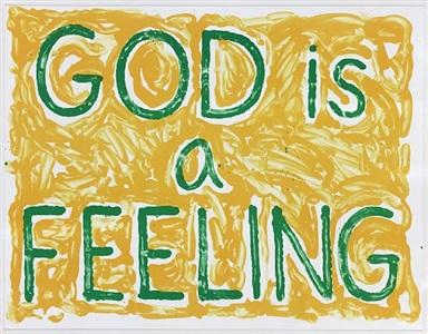 god is a feeling by jonathan borofsky