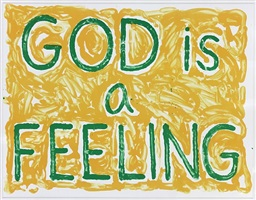 god is a feeling by jonathan borofsky