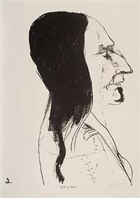 sitting bull by leonard baskin