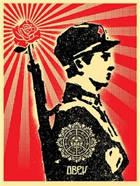rose soldier ap by shepard fairey