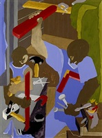 the cabinet maker by jacob lawrence