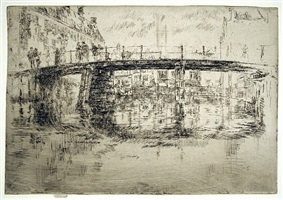the bridge, amsterdam by james abbott mcneill whistler