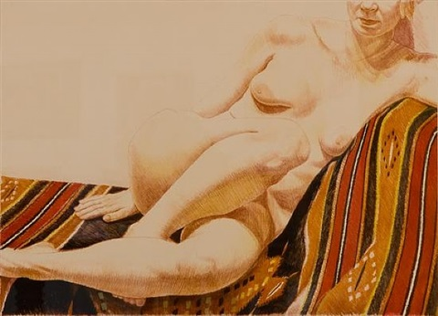 untitled (figurative) by philip pearlstein