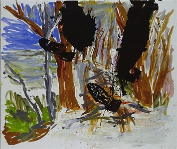 out in the wildwood by georg baselitz