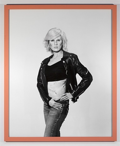 we as warhol in drag with scar by gillian wearing