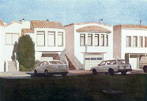 three houses on pennsylvania avenue by robert bechtle