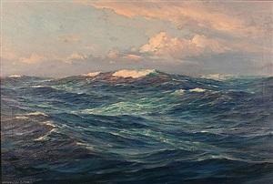 moonlight at sea by anton otto fischer