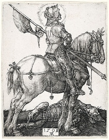 saint george on horseback by albrecht dürer