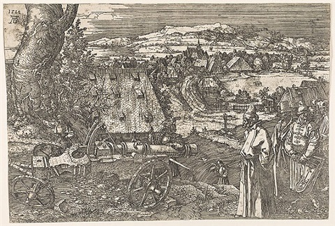 landscape with cannon (the great cannon) by albrecht dürer