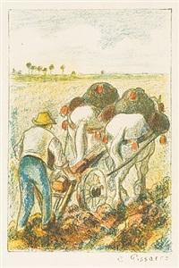 la charrue (the plow) by camille pissarro