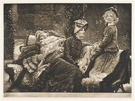 le banc de jardin (the garden bench) by james jacques joseph tissot