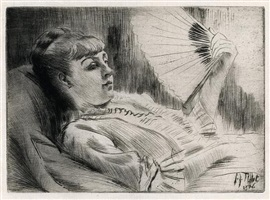 l'eventail (the fan) by james jacques joseph tissot