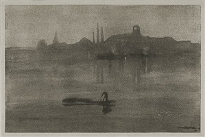 nocturne: the river at battersea by james abbott mcneill whistler