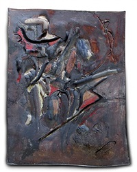 early otis/ peter voulkos period large plaque by john mason