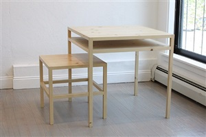 table and stool (b-vb 68) by donald judd
