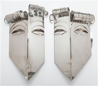 untitled (pair of sconces) by franz hagenauer