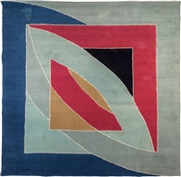 river of ponds tapestry by frank stella