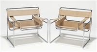wassily (pair of chairs) by marcel breuer
