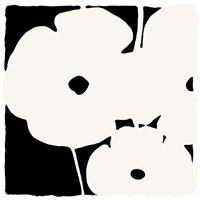 poppies, june 3, 2011 (white) by donald sultan