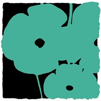 poppies, june 5, 2011 (aqua) by donald sultan