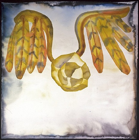 after attar's 'the conference of the birds' vii by francesco clemente