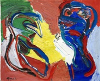 the couple by karel appel