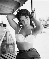elizabeth taylor with bustier no 1 by frank worth