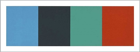 blue gray green red by ellsworth kelly