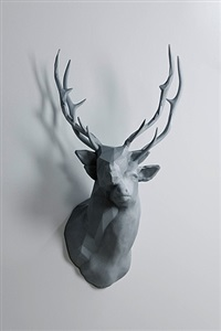 polygon-double-deer #2 by kohei nawa